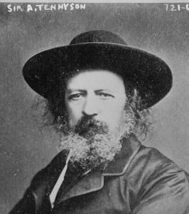 Alfred, Lord Tennyson, before 1884, from the George Grantham Bain Collection of the Library of Congress via Wikicommons.