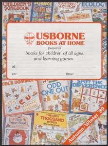 Poster for Usborne books sale from C2079's response to 1989 Summer directive part 2