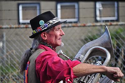 Musician at Honk!