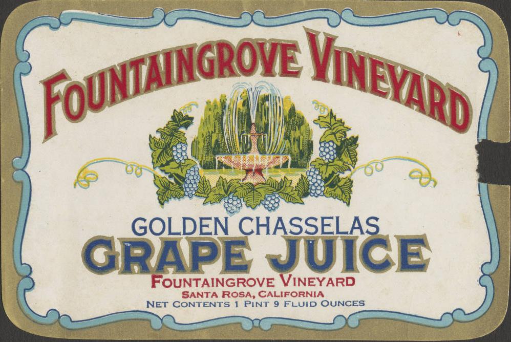 Fountaingrove Vineyard label